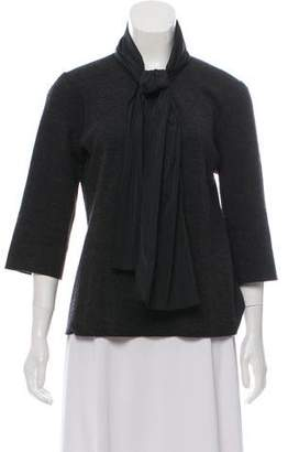 Lanvin Wool Quarter Sleeve Blouse