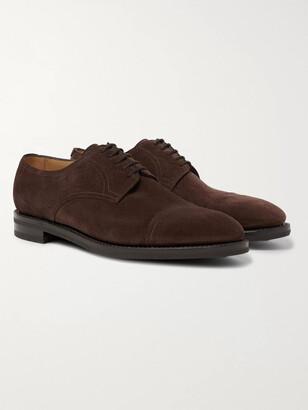 John Lobb Cap-Toe Suede Derby Shoes