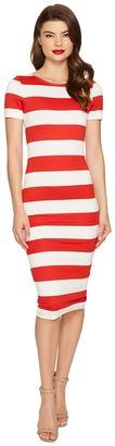 Unique Vintage - Short Sleeve Presley Wiggle Dress Women's Dress $48 thestylecure.com