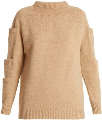 Christopher Kane Crew-neck pocket-detail wool sweater
