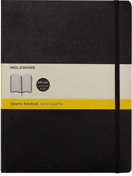 Moleskine NEW Classic Soft Cover Squared Large Notebook Black