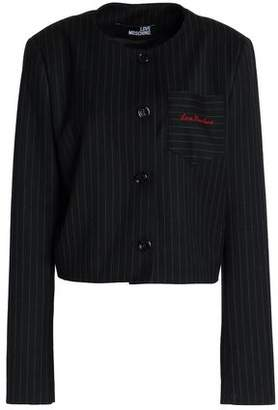 Love Moschino Embroidered Pinstriped Gabardine Jacket