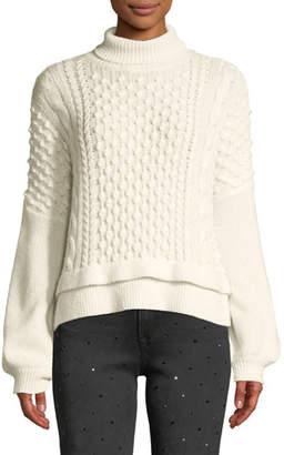 Frame Nubby Turtleneck Wool-Blend Knit Sweater