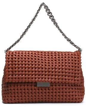 Stella McCartney Woven Faux Leather Shoulder Bag