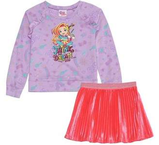 DAY Birger et Mikkelsen Sunny Graphic Sweatshirt and Pleated Skirt, 2-Piece Outfit Set (Little Girls & Big Girls)