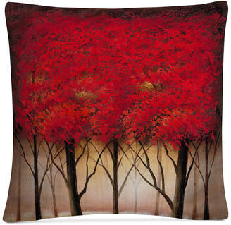 "Trademark Global Rio Serenade in Red 16"" x 16"" Decorative Throw Pillow"