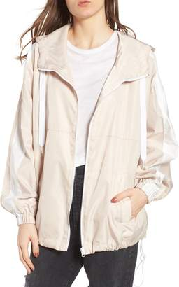 KENDALL + KYLIE Stripe Hooded Jacket