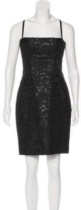 Dolce & Gabbana Jacquard Lace-Up Dress