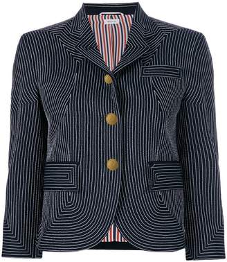 Thom Browne Embroidered Flannel Sport Coat