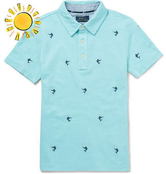 Polo Ralph Lauren Boys Ages 2 - 6 Embroidered Cotton-Pique Polo Shirt - Blue