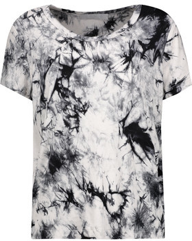 Kain Sabine Printed Stretch-Modal T-Shirt $95 thestylecure.com