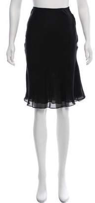 Peter Som Silk Knee-Length Skirt