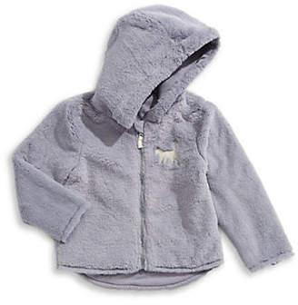 BOB DER BAR Baby Girl's Fuzzy Zip-Up Hoodie