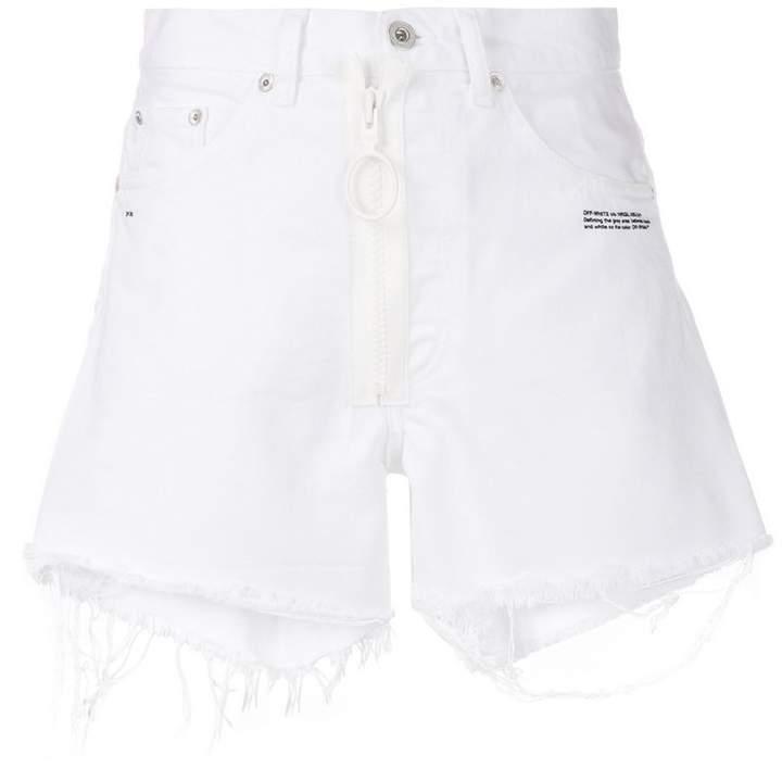 raw edge shorts