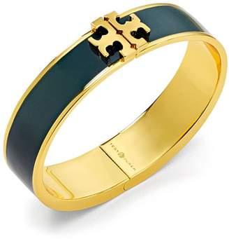 Tory Burch Hinged Logo Enamel Bangle Bracelet