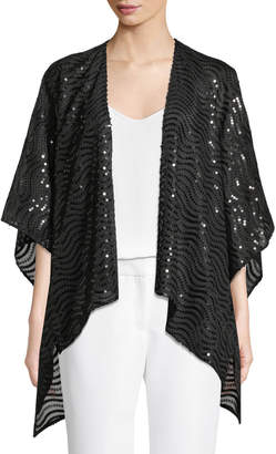 Karl Lagerfeld Paris Sequined Cape Shrug