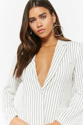 Forever 21 Single-Breasted Pinstriped Blazer