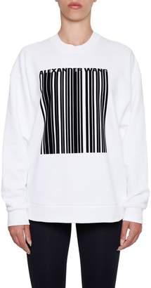 Alexander Wang Oversized Barcode Sweatshirt