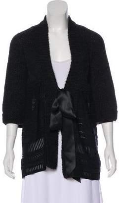 Chanel Alpaca Short Sleeve Cardigan