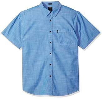 Dickies Men's Modern Fit Short Sleeve Chambray Shirt