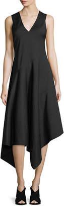 Derek Lam Sleeveless Asymmetric Midi Dress