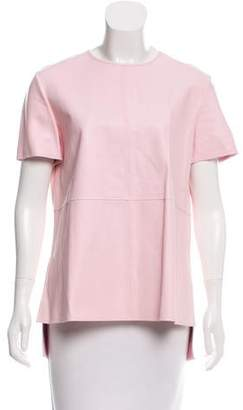 Givenchy Short Sleeve Leather Top