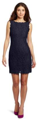 Adrianna Papell Women's Sleeveless Lace Dress