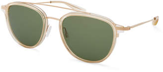 Barton Perreira Men's Courtier Bottle-Green Sunglasses
