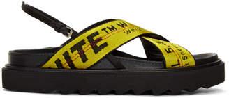 Yellow Industrial Belt Sandals