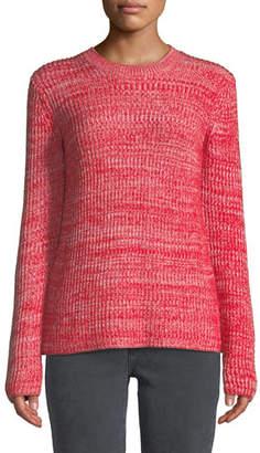 Derek Lam 10 Crosby Ribbed Crewneck Merino Pullover Sweater