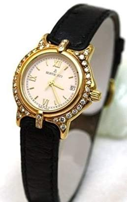 Berto Lucci Bertolucci Watches Bertolucci Mini Vir 18k Gold Diamond Bezel Leather Strap Swiss Women's Watch