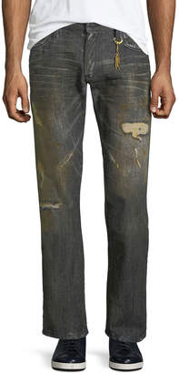 Robin's Jeans Distressed Straight-Leg Jeans