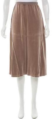 Sonia Rykiel Velvet Knee-Length Skirt
