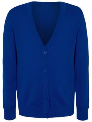 George Girls Cobalt Blue School Cardigan