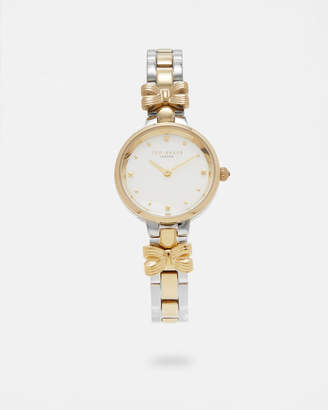 Ted Baker BOWMAS Bow detail two-toned watch