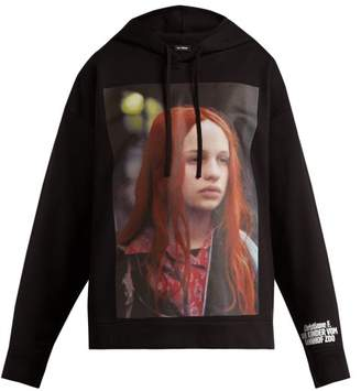 Raf Simons - Christiane F. Photographic Print Hooded Sweatshirt - Womens - Black Print