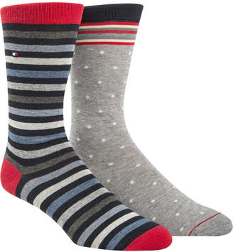 Tommy Hilfiger Men's 2-Pk. Printed Socks
