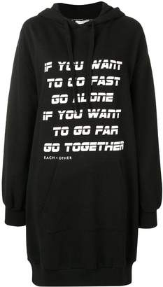 Each X Other Go together print hoodie dress