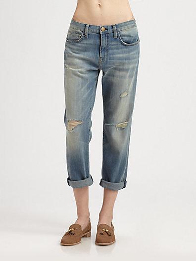 Current/Elliott The Boyfriend Distressed Jeans