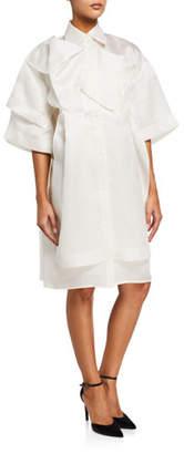 Nina Ricci Silk Organza Shirtdress