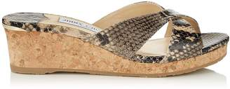 Jimmy Choo ALMER 50 White Sand Printed Leather Mule