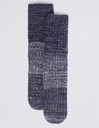 Marks and Spencer Chunky Pearl Stitch Slipper Socks