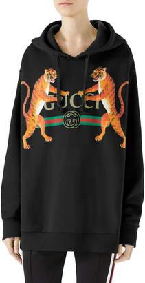 Gucci Tiger Logo Hooded Sweatshirt