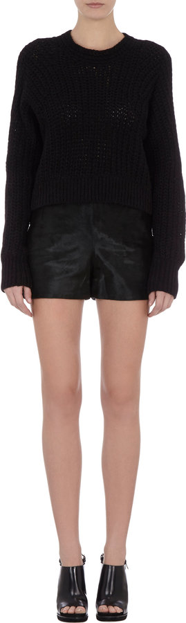 Theyskens' Theory Calf Hair Shorts