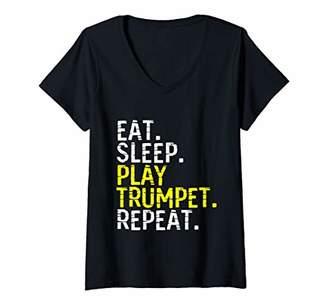 Womens Trumpet V-Neck T-Shirt