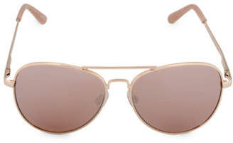 Steve Madden 58mm Metal Aviator Sunglasses