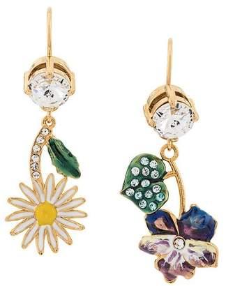 Miu Miu floral crystal earrings