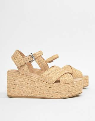 Asos Design DESIGN Thierry Raffia Wedges