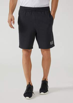 Emporio Armani Baby French Terry Athletic Shorts With Ea7 Logo