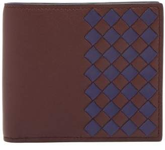 Bottega Veneta Bi Colour Intrecciato Leather Wallet - Mens - Brown Multi